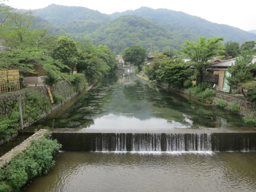 The tranquil atmosphere of the Arashiyama neighborhood on the Western outskirt of town