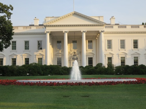 To keep the restless feet at bay, I also took a trip to our Nation's capital (seen here is the White House, obviously)