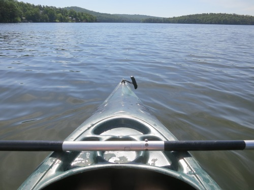 I opted for a bit of kayaking on Badin Lake in North Carolina