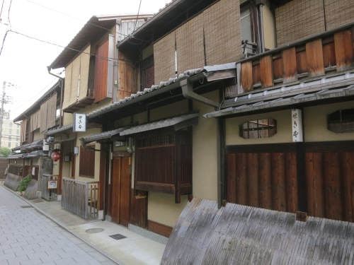 The gorgeous facades in the Gion District (one of the city's major Geisha and Entertaining areas)