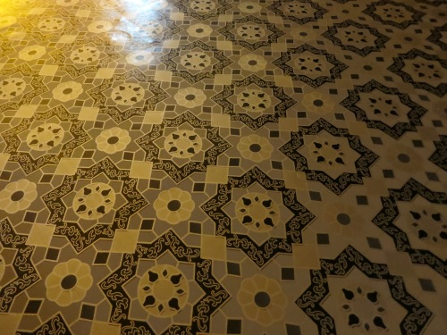 Even the floors are quite ornate inside many of the temples