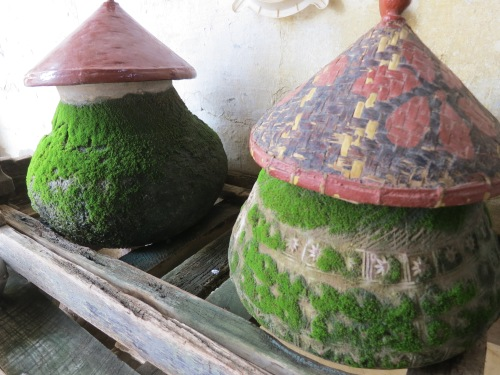 Water jars are a common sight outside of any temple or residence, but I found this moss-covered pair to be particularly photogenic