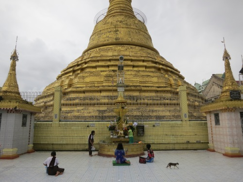 The Botataung Paya, as visible through the rains of the monsoon season
