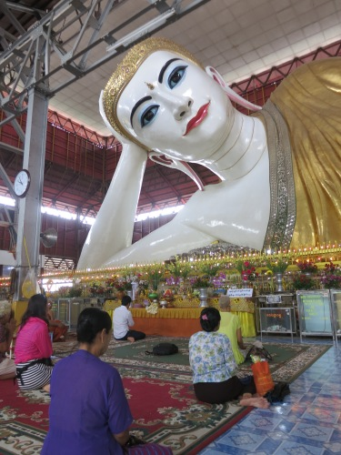 The reclining Buddha of Chauk Htatt Kyee Paya