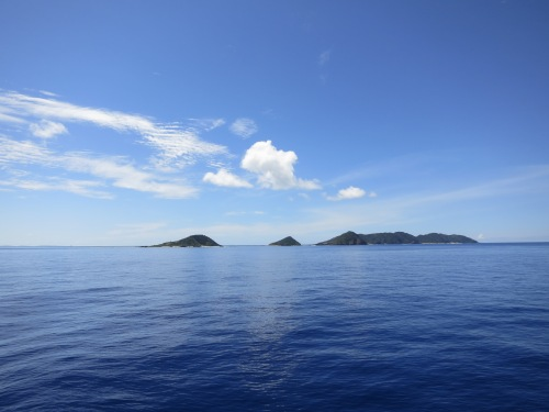 Once on the water, dozens of small, uninhabited islands pass by