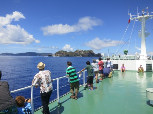 The view from the deck of the boat