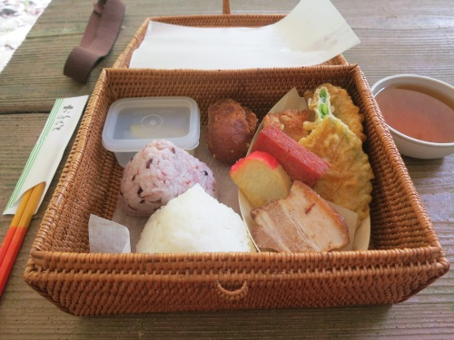 …but not before a quick Bento lunch to keep the energy level high