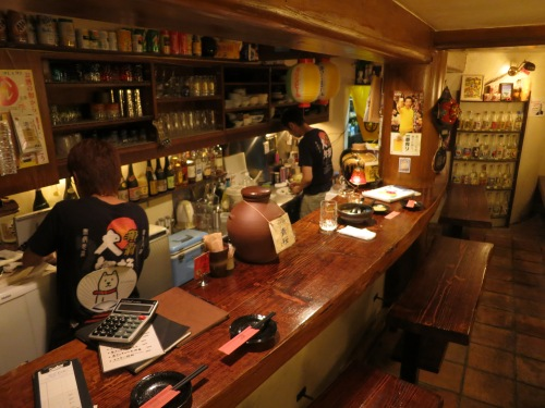 "The local izakaya where I did much of my ""research"" for the alcohol section of this post"