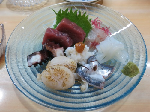 Another Sashimi plate, compliments of the chef