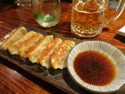 Gyoza dumplings utilizing the island's pork (obviously a Chinese-influenced dish)