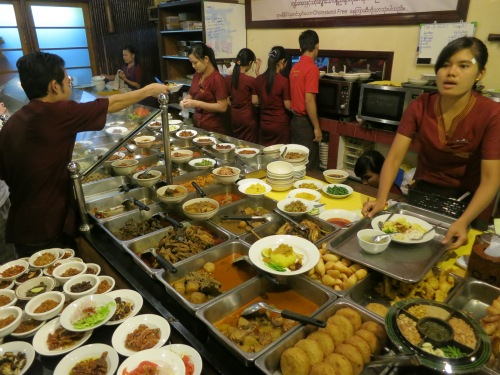 Food 6 - Dishes at Feel Myanmar
