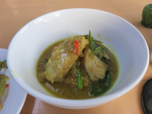 I had to run the whole gamut and try the fish curry, as well