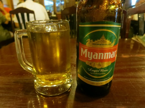 "The most famous of the Myanmar beers is the aptly named ""Myanmar Beer"""