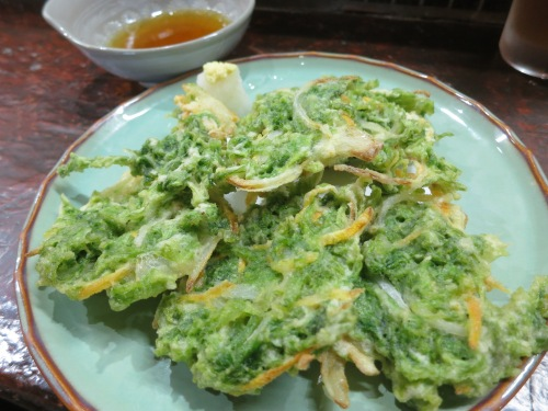 A type of local seaweed that is cooked up tempura-style