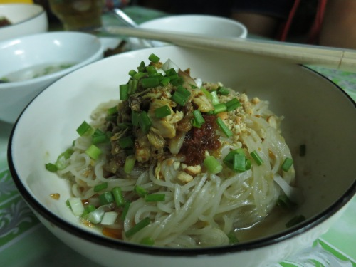 Or in a dry format (with the soup served on the side).  I had a friend in town who, after trying Shan Noodles, couldn't stop talking about it for the next few days, but that is another story...