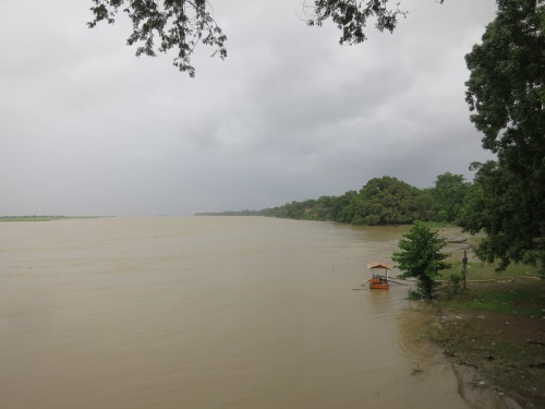 With the rains brought on my be monsoon season, the Ayeyarwady River was running high and fast at this time of year