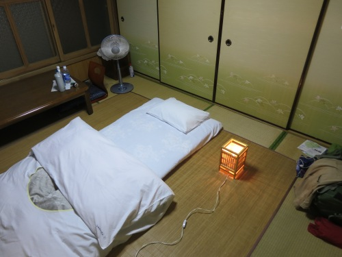 Your tatami mat room also doubles as your sleeping quarters once your futon and bedding has been laid out