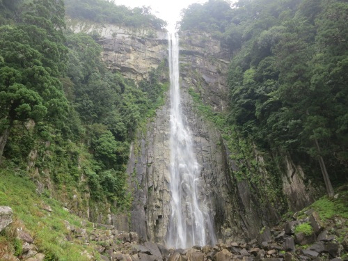 A look up at Japan's tallest waterfall