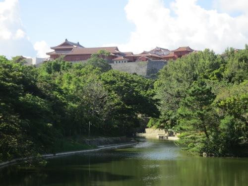 Shuri-jo Castle in the distance
