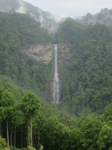 The Nachi-no-Otaki Waterfall as seen from atop the Three-Story Pagoda