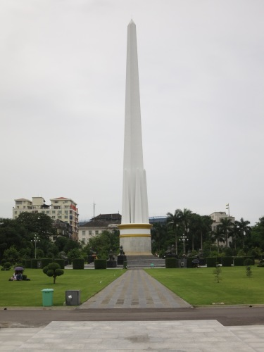 The Independence Monument near the center of town
