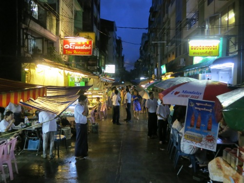 The barbeque vendors that open up each night along 19th in Chinatown