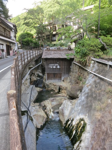 Additionally, Yunomine is also home to the only UNESCO recognized hot spring, called Tsubo-yo -- which is essentially just a small shack (seen here) that pipes in water directly from the hot springs in the area