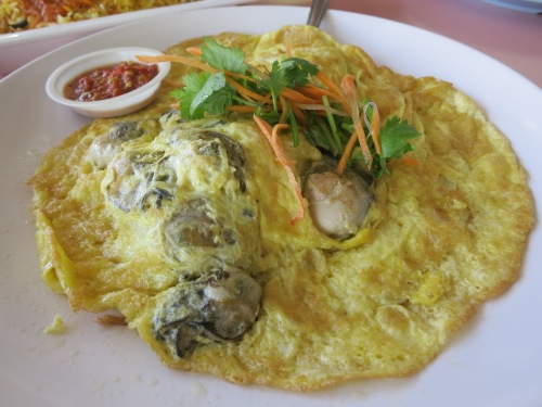Oyster Omelette, which is pretty much exactly what it sounds like